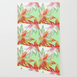 Tropical Reflections Floral Wallpaper