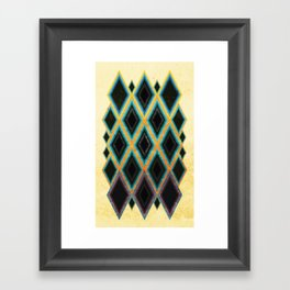 Diamond pattern Framed Art Print