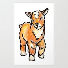 Baby Goats: Buttercup Art Print