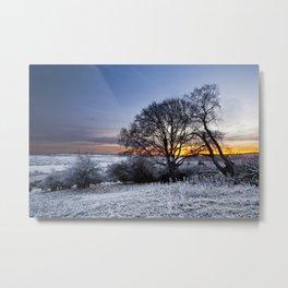 Winter Sunrise Metal Print