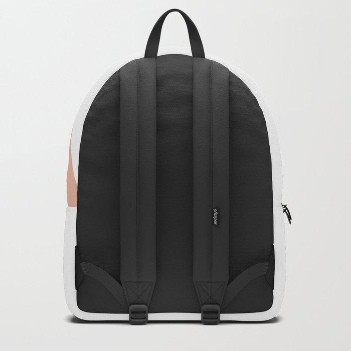 Geometric Ballet Slipper Pink + White Backpack