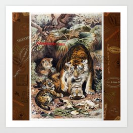 Tigers for Responsible Travel Art Print