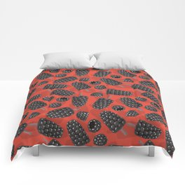 Blackberry and blackberry ice cteam pattern Comforters