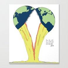 Crack the world. Canvas Print