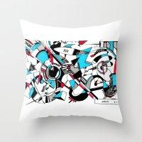 kandinsky Throw Pillows featuring KANDINSKY TRIBUTE by DavidePerroneDAHM