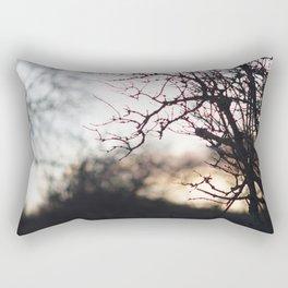 Sunset through trees Rectangular Pillow