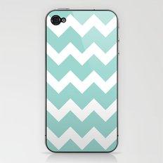 Chevron - Aqua iPhone & iPod Skin