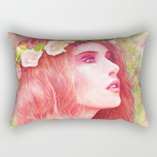 Flowering Rectangular Pillow