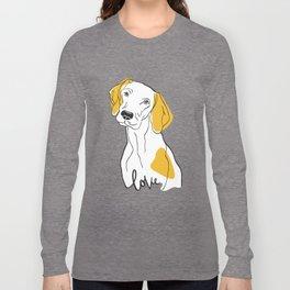 Dog Modern Line Art Long Sleeve T-shirt