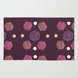 Red and Purple DnD Dice Rug