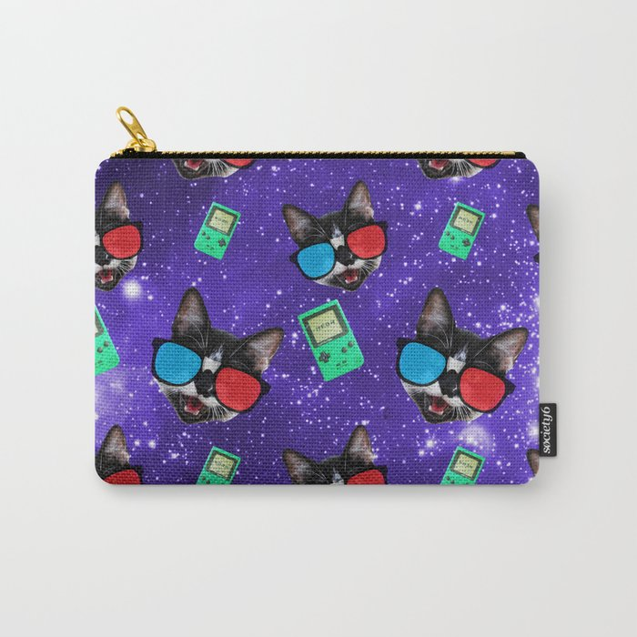 Nerdy Cat Carry-All Pouch
