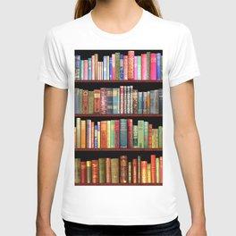 Book Lovers Gifts, Antique bookshelf T-shirt