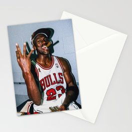 Michael Jord-an Poster Stationery Cards