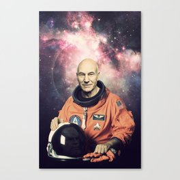 Captain Picard - Astronaut in Space Canvas Print