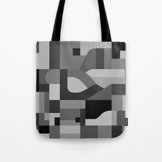Langley Tex Black and White Tote Bag