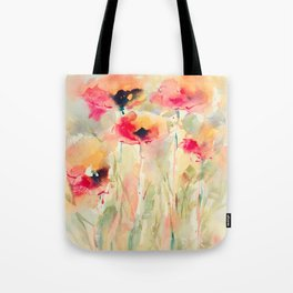 Poppies (abstract) Tote Bag