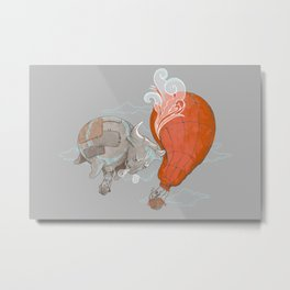 Hot Air BULLoon Metal Print
