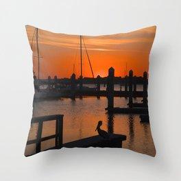 after sunset Throw Pillow