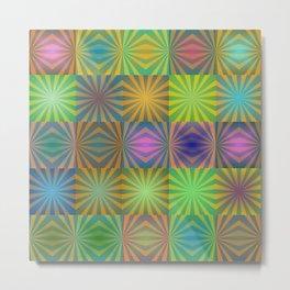 Radial squares Metal Print