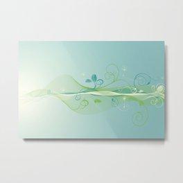 Dandelion Breeze Metal Print