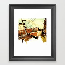 One way to Brooklyn, NY Framed Art Print