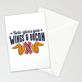 Keto Gives You Wings And Bacon Gift Stationery Cards