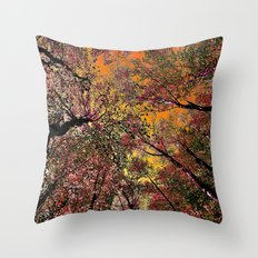 Colored forest Throw Pillow