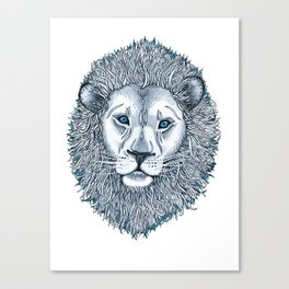 Blue Eyed Lion Canvas Print