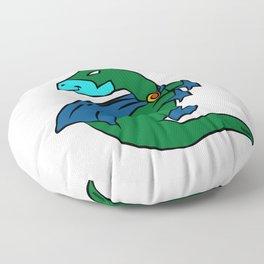 Superhero dinosaur costume Parasaur gift Floor Pillow