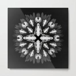 Mandala Macabre Metal Print