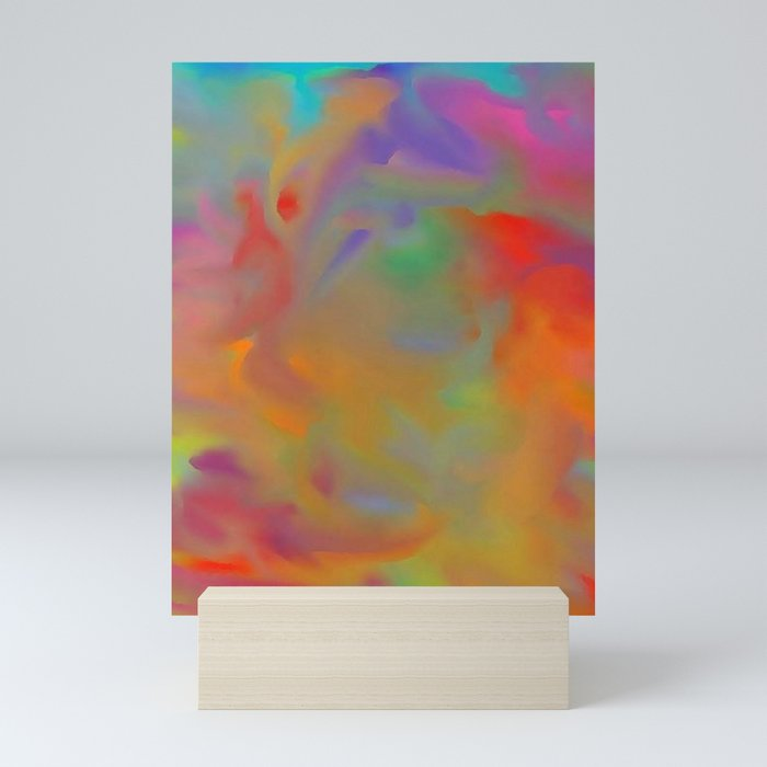 lucid rainbow two Mini Art Print
