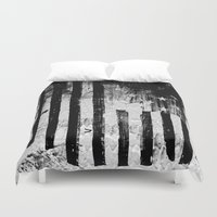 flag Duvet Covers featuring US Flag by Ricca Design Co.