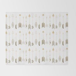 Be Brave Little Arrow (gold) Throw Blanket