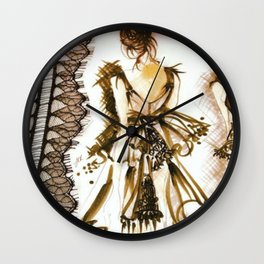 LITTLE BLACK COUTURE DRESS Wall Clock