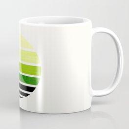 Sap Green Mid Century Modern Minimalist Circle Round Photo Staggered Sunset Geometric Stripe Design Coffee Mug