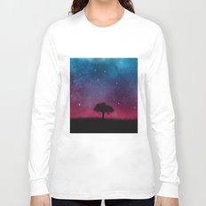 Tree Space Galaxy Cosmos Long Sleeve T-shirt