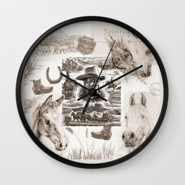 Country Western Wall Clock