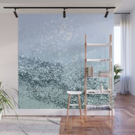 Light Seafoam Light Blue Glitter #1 #shiny #decor #art #society6 Wall Mural