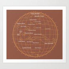 Mars 1 Art Print