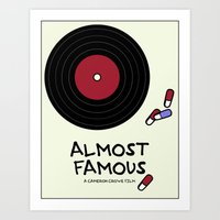 almost famous Art Prints featuring Minimalist Almost Famous by alyssaandress
