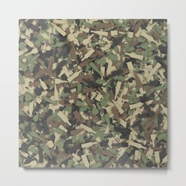 Forest alcohol camouflage Metal Print