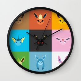 Eeveelution Wall Clock