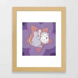Opal Sleeping Framed Art Print