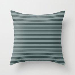 Scarborough Green PPG1145-5 Horizontal Stripes Pattern 1 on Night Watch PPG1145-7 Throw Pillow