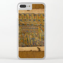Ancient Egyptian Funerary Scroll pre 944 BC Clear iPhone Case