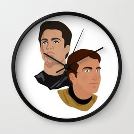 The Two Captains Wall Clock