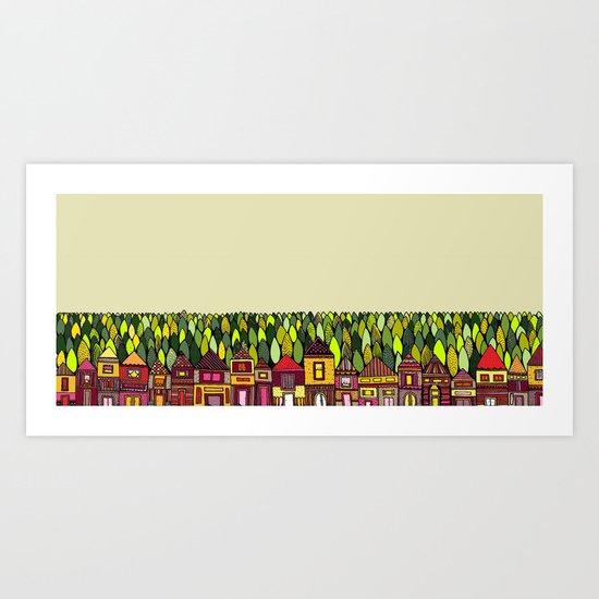 Train Back Home Art Print
