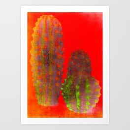 three cactus Art Print