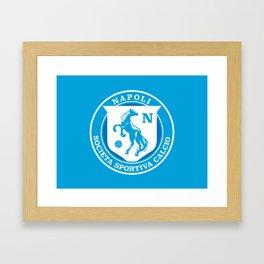 Naples Horse Football badge Framed Art Print
