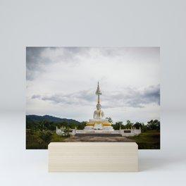 Thailand tempel Khao lak Mini Art Print